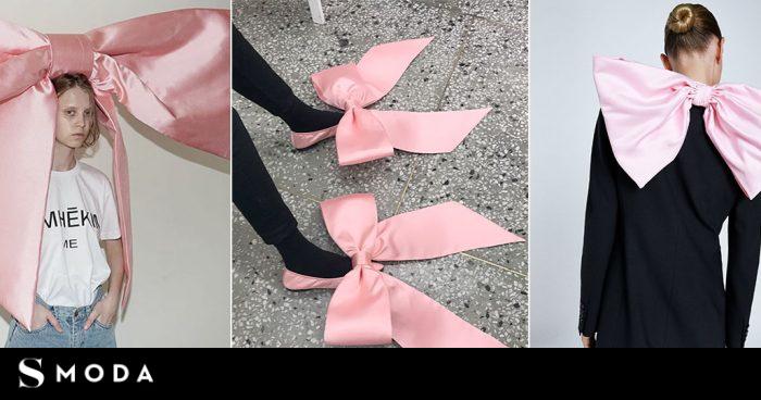 'boom' de los lazos rosas gigantes: de la americana de Zara a la diadema de 1800 euros - S MODA